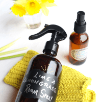 lime and lemongrass essential oil room spray