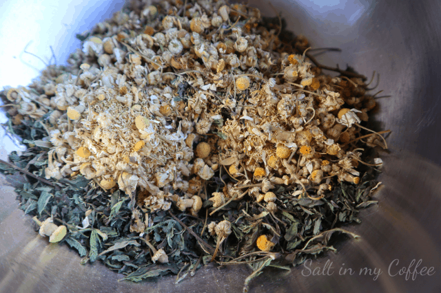 Chamomile and Mint for herbal headache heating packs