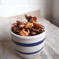 paleo honey ginger spiced nuts