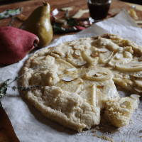 Gluten Free Pear and Mascarpone Galette