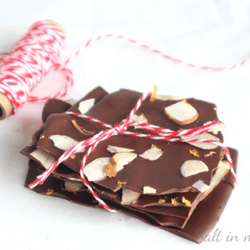 dark chocolate orange and almond bark recipe