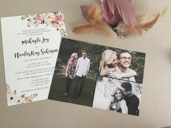 utah wedding invitations beautiful announcements announcements invitations salt lake bride - Wedding Invitations Utah