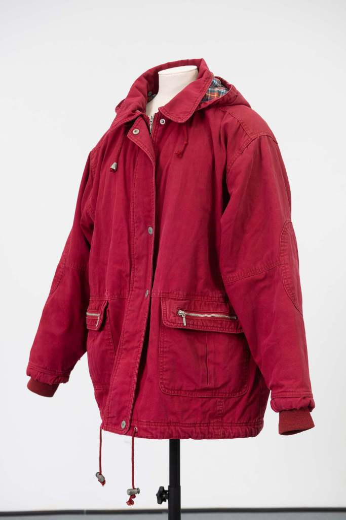 Hayley Cropper's red anorak from Coronation Street