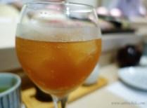 Ice cold plum juice