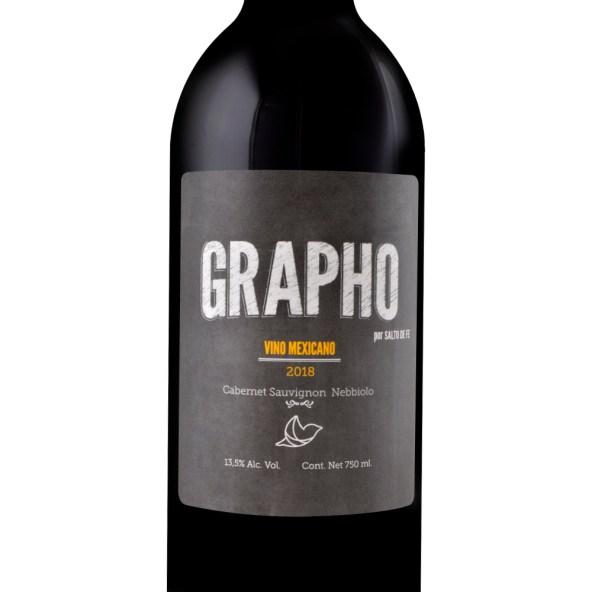 Vino Tinto Mexicano Grapho Cabernet Sauvignon Nebbiolo 750 Ml. Vino joven frutal. REPOSO: 10 meses barrica de roble