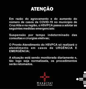Hospital-Sao-Vicente-1-289x300 Hospital São Vicente suspende cirurgias e consultas eletivas