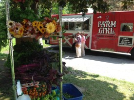 Fresh produce and flowers for sale at Farm Girl's spot in City Park
