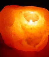 himalayan salt candle holder