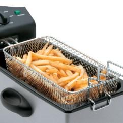 Kitchen Fryer Breakfast Nooks For Small Kitchens Salton Deep Easy Clean Df1233 Lightbox