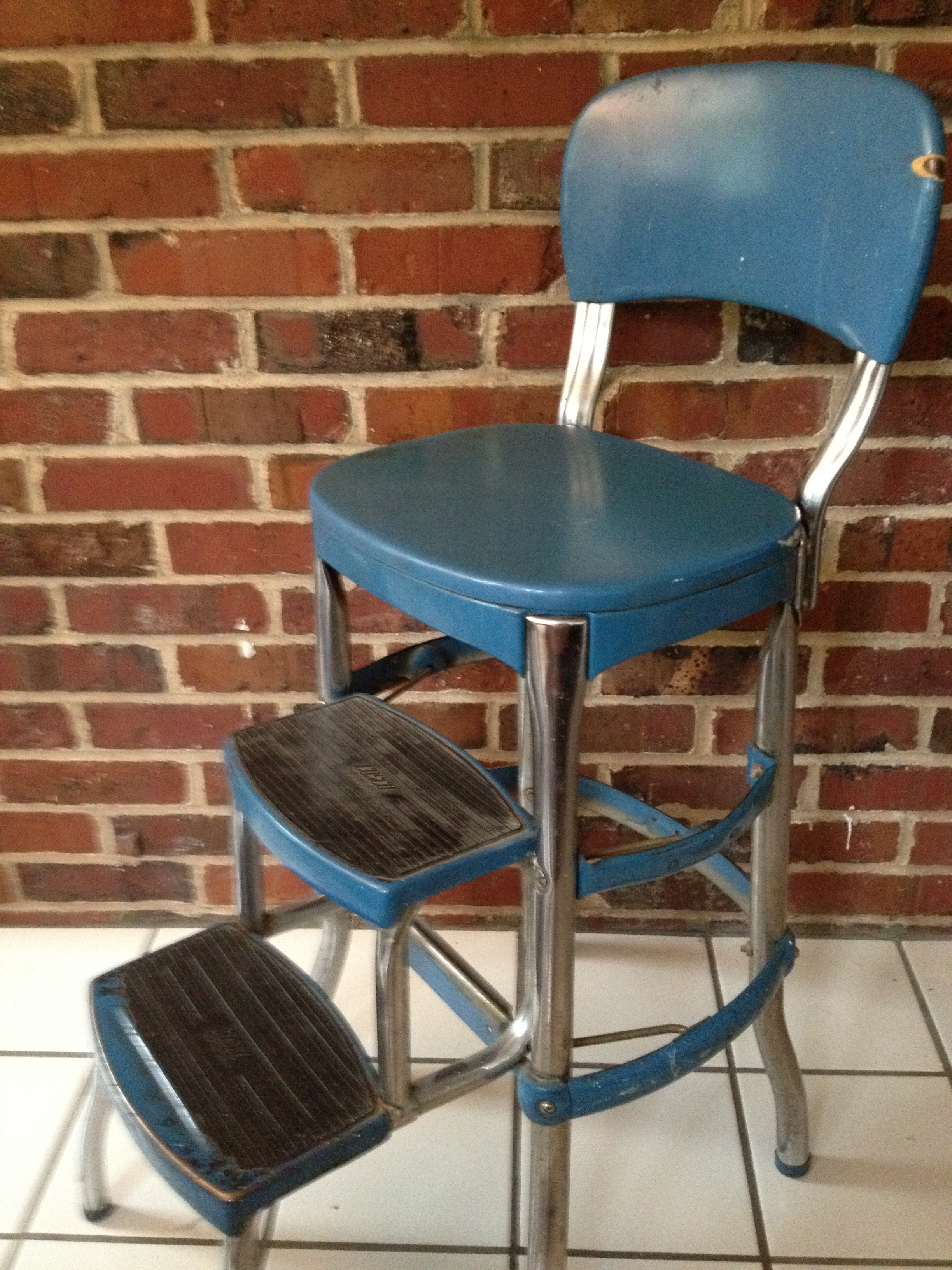 retro chair step stool best lumbar support for office vintage cosco saltshed