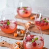 Hallon & rabarber GT med rosépeppar!