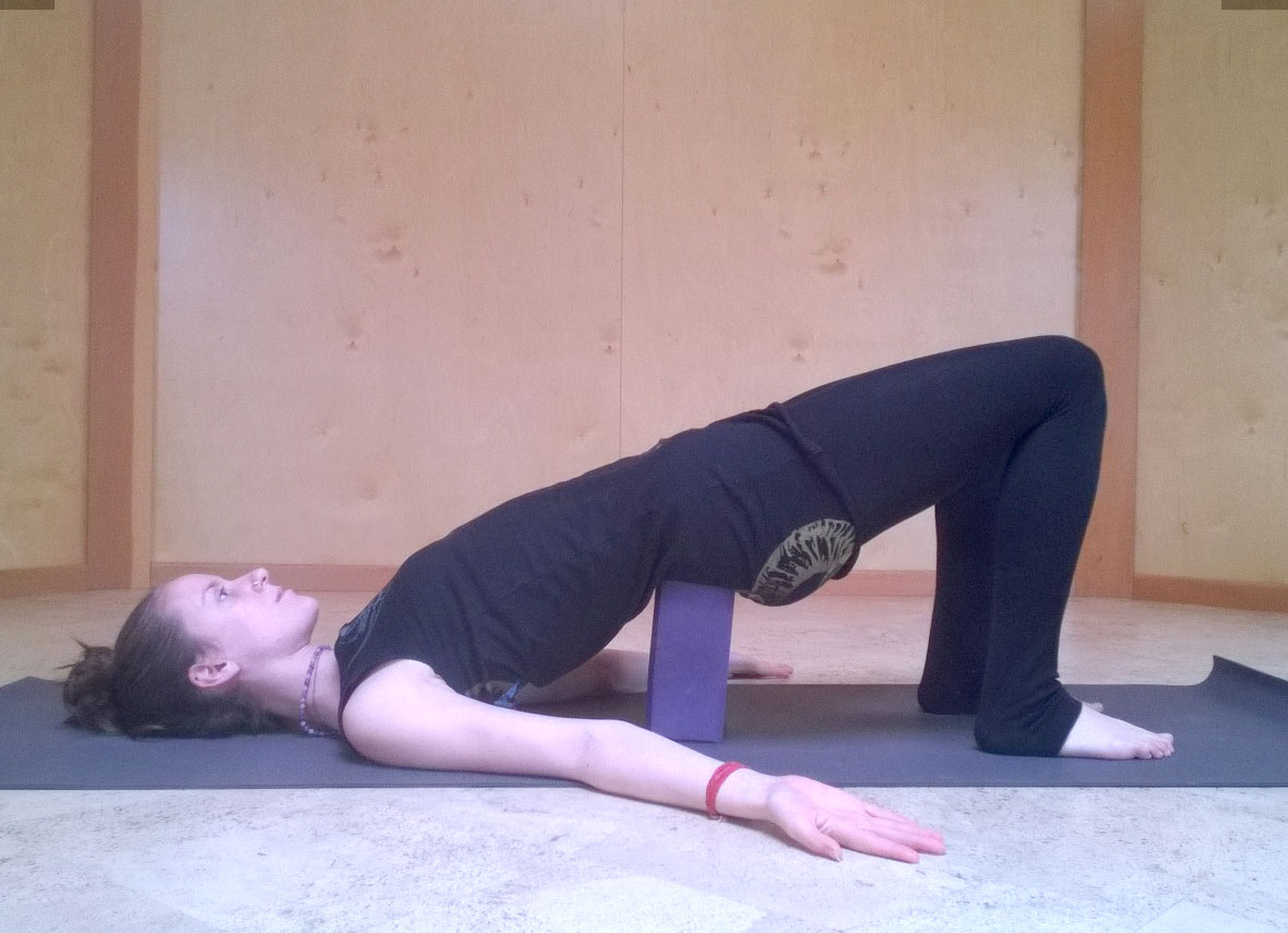 Image result for setu bandha block lower back