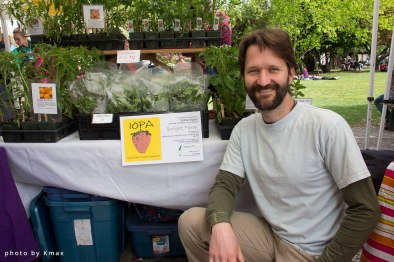 plant starts at the Salt Spring Saturday Market
