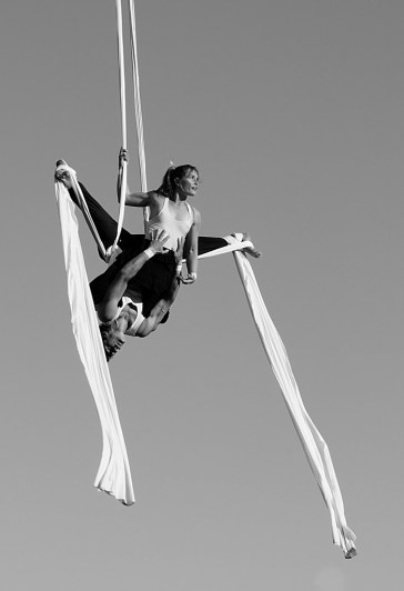 aerial silks on Salt Spring Island, BC