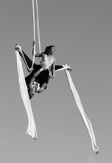 aerial silks on Salt Spring Island, BC