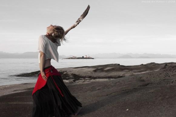 The Goddess Melissa Dancing on Gabriola Island, BC, Canada