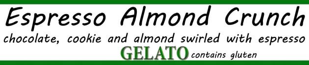 espresso almond crunch