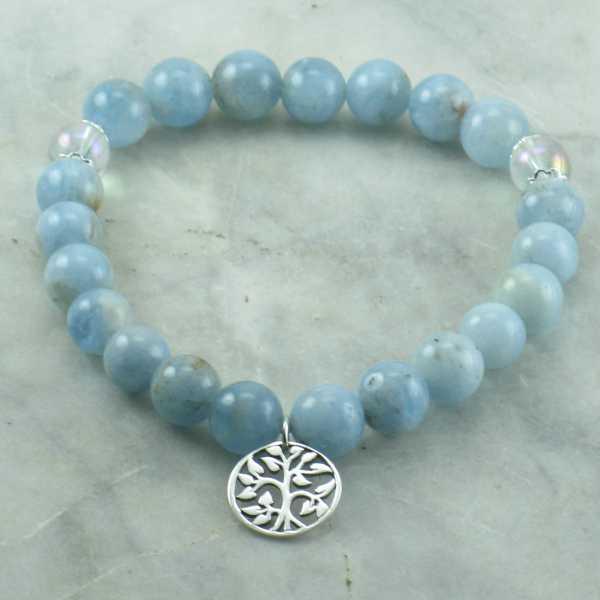 Winter Mala Bead Bracelet Pitta 21 Beads Yoga