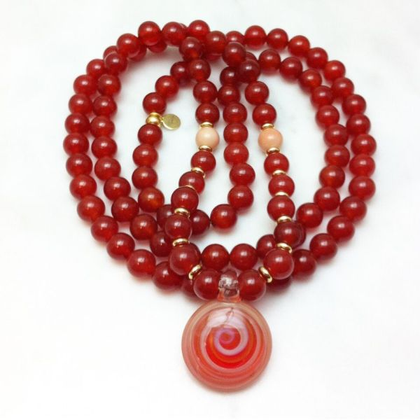 carnelian mala necklace