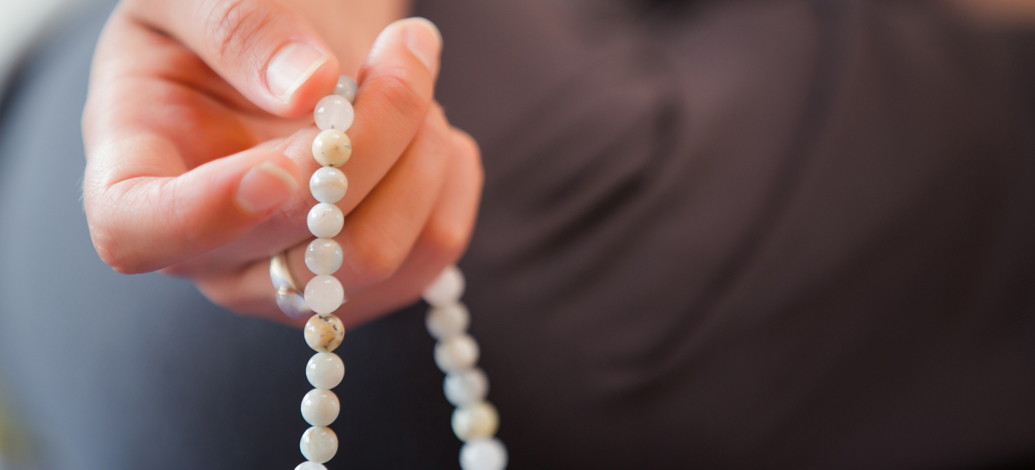 meditation practice with a mala