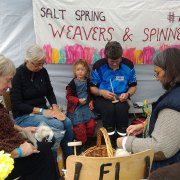 Salt Spring Island Weavers and Spinners Guild at the Fall Fair