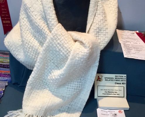 Shawl handspun and handwoven by Donna