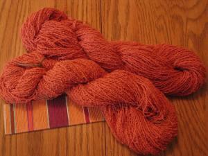 Sandra 's dye combo creation called terra-cotta