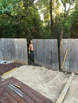 clearing area for above ground pool