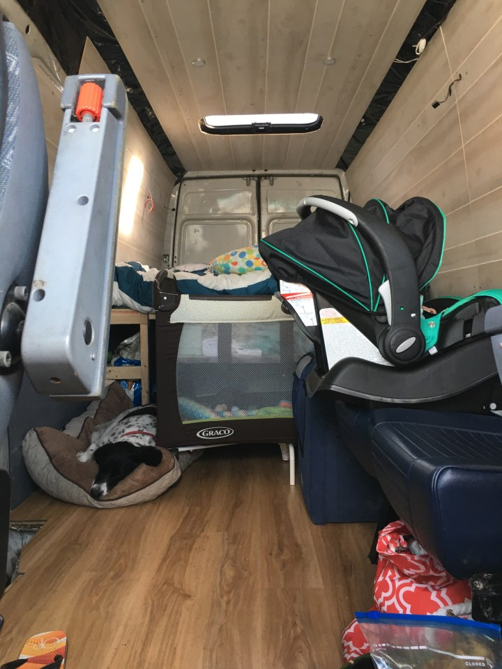 sprinter van packing