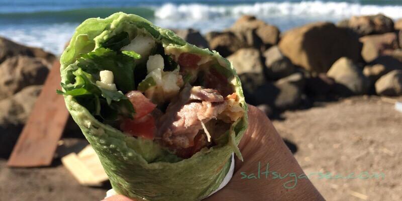 Steak & Cilantro Wrap with Hummus