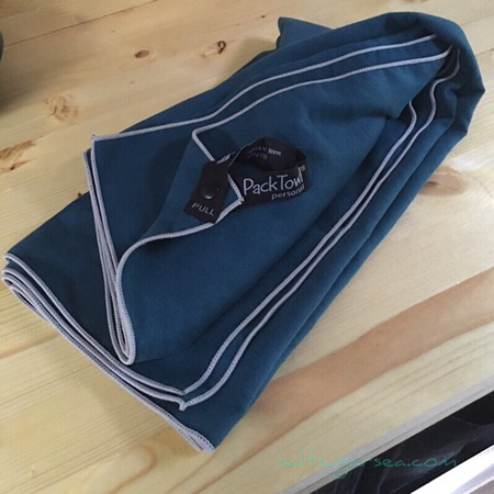 Microfiber blue camp towel