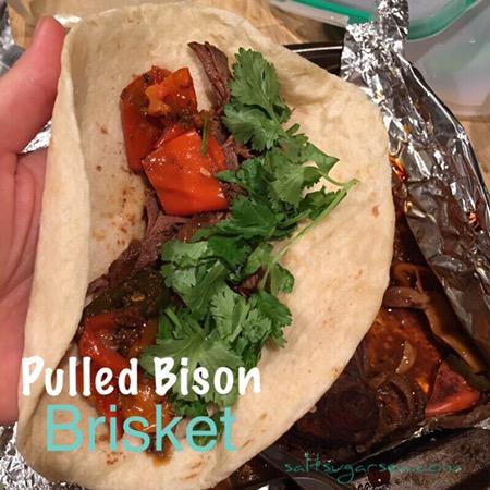 Lean Bison Brisket taco
