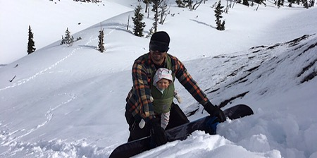 Vanlife Log : How to Snowboard with Baby on Board