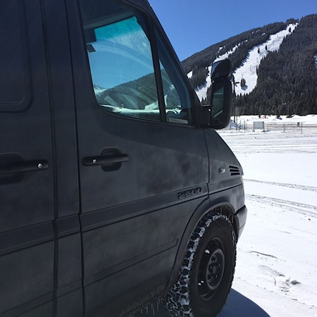 Broke down Sprinter in winter