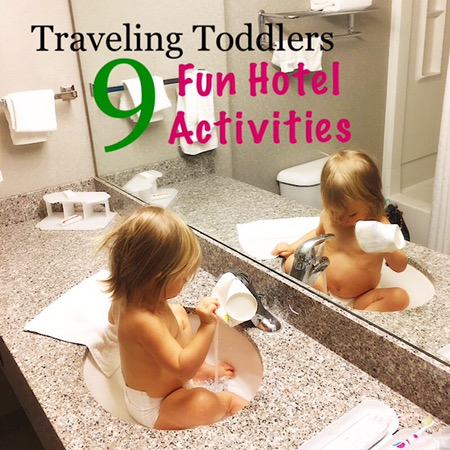 Traveling toddler sink party