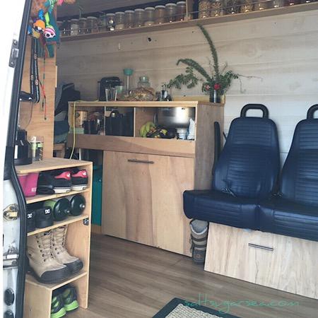 Travel Cleaning Supplies sprinter van conversions