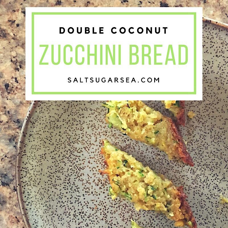 Double Coconut zucchini bread with no butter