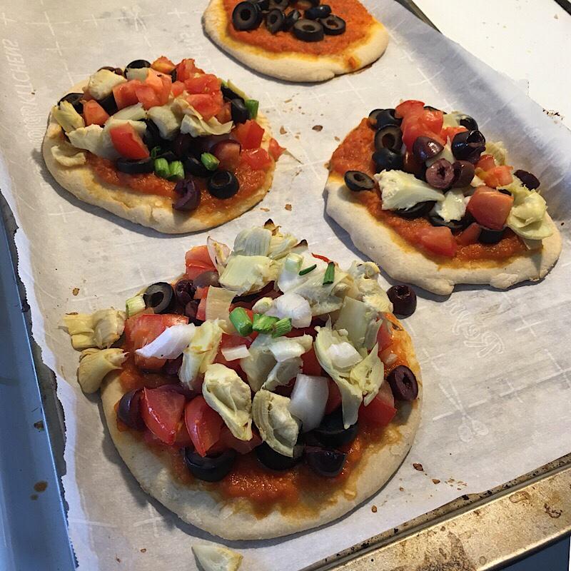 Mini pizzas Homemade Vegan Pizza