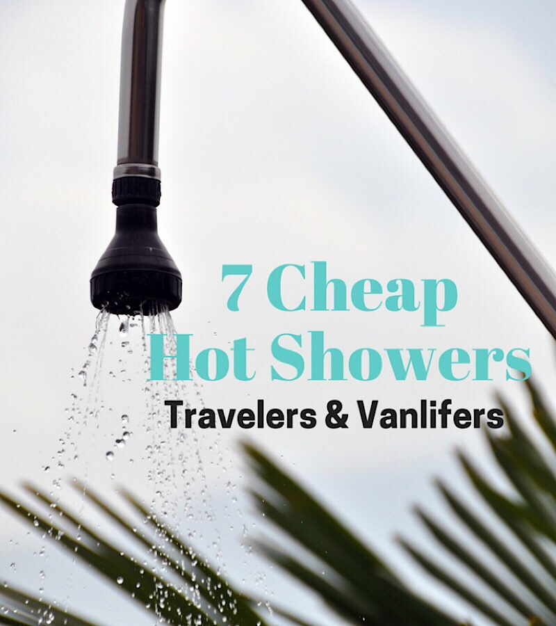 Cheap hot showers list for travelers and vanlifers