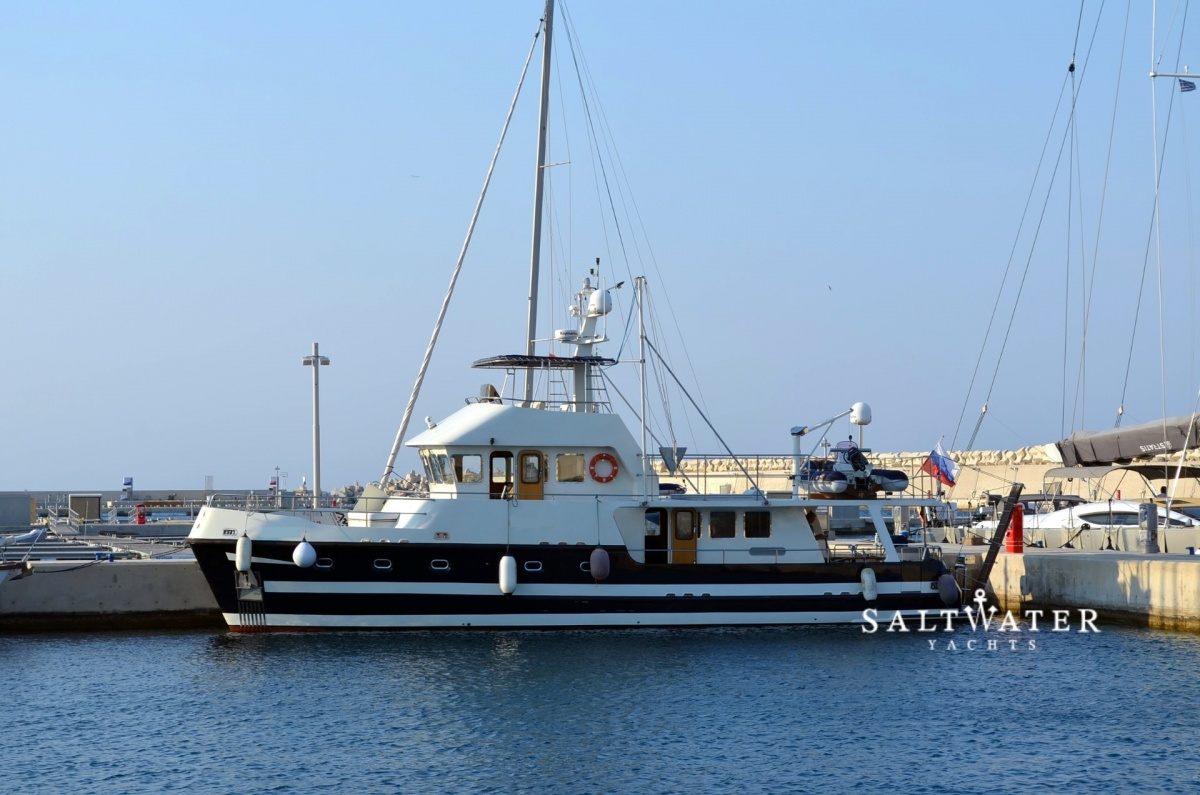 Steel Motor Trawler 60ft Motor Yachts For Sale