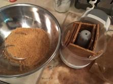 2) Grind, puree or chop graham crackers