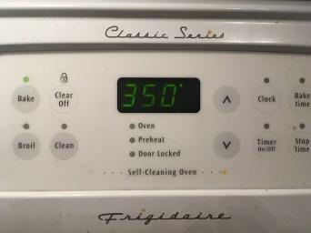 1) Preheat oven to 350