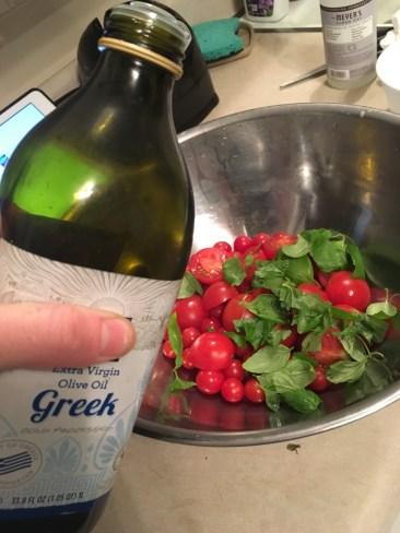 5) Splash of olive oil to slight coat