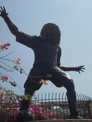 Carlos Valderrama statue