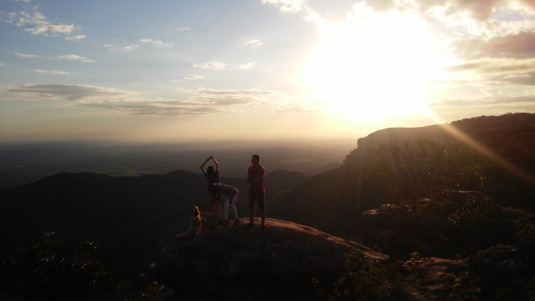 sunset in chapada