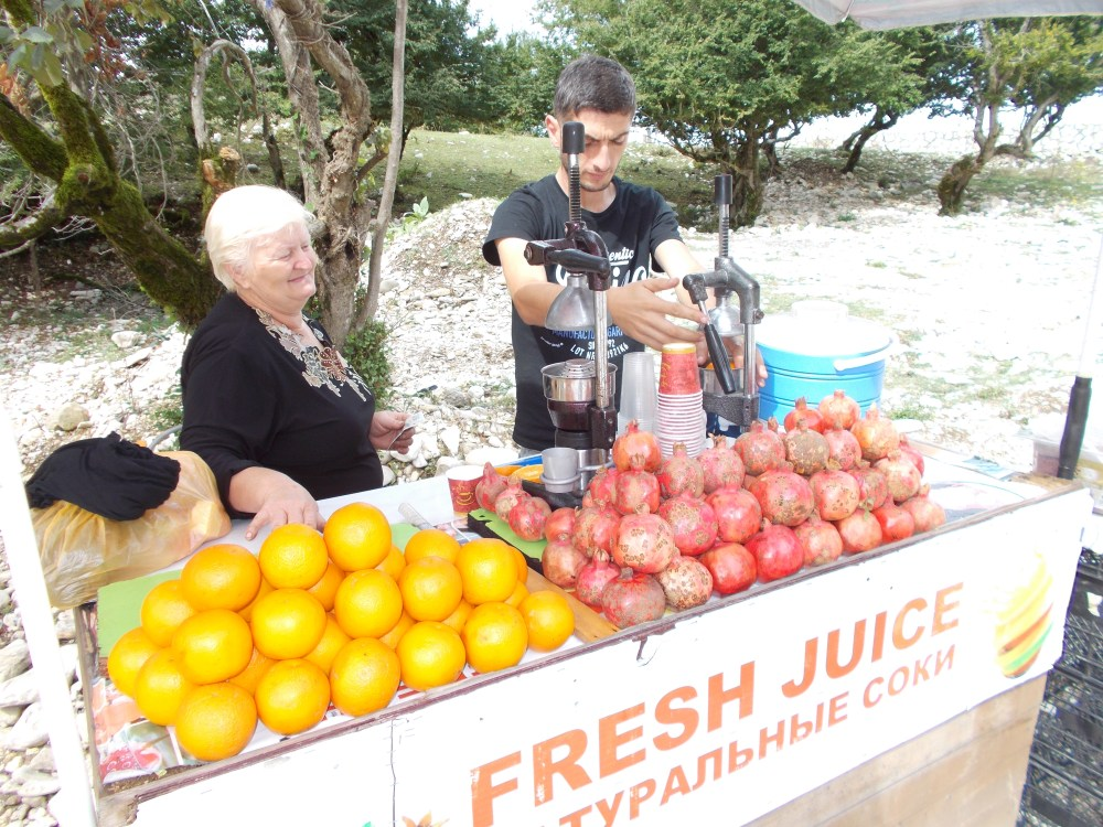 Juice stall in Georgia