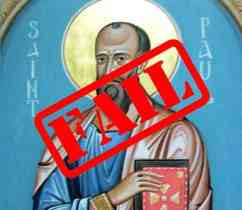 St Paul demoted from being an apostle