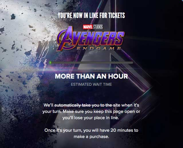 The Parable of the Avengers End Game Tickets