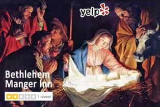 Yelp review of the Bethlehem Manger Inn