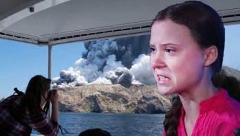 Greta Thunberg rebukes White Island Volcano
